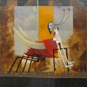 Metamorphosis. Oil on canvas, 85 x 85 cm. 2009. SOLD