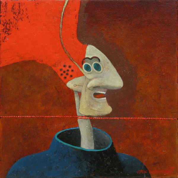 Life is Wonderful. Oil on canvas, 46 x 46 cm, 2011. SOLD