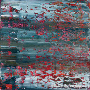 Afon Ocwen II. Abstract No 2474. Oil on canvas, 100 x 100 x 4 cm. 2020