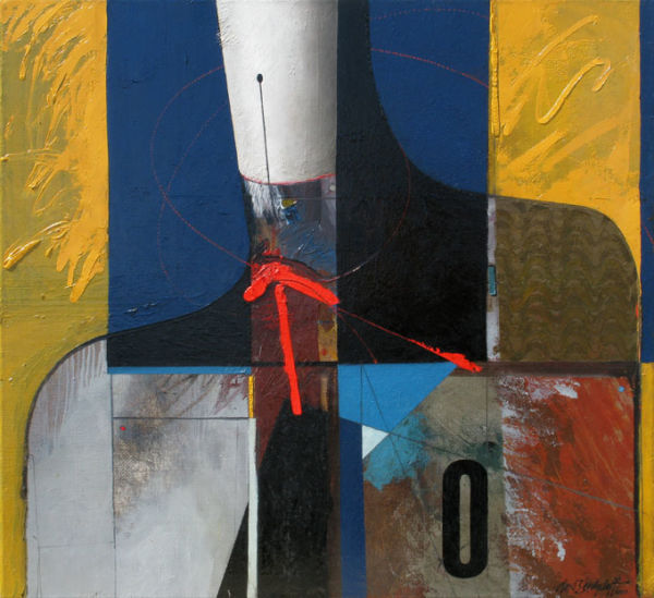 Trajectory. Oil on canvas, 72 x 78 cm. 2010