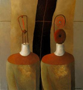 Ancestors IV. Oil on canvas, 78 x 72 cm. 2010. SOLD