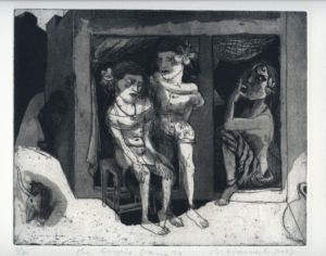 Child Prostitutes. CG 29. Etching, aquatint, 38 x 42 cm. SOLD