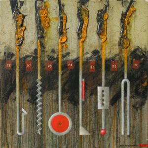 Toolbox 1. Oil on canvas, 46 x 46 cm
