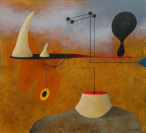Rhinoceros. Oil on canvas, 110 x 120 cm, 2009