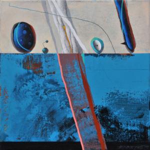 Evidences II. Acrylic on canvas, 46 x 46 cm. 2019