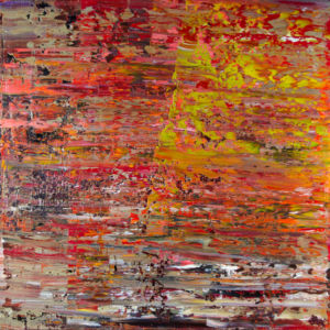 Kalaw, Myanmar. Abstract No 1823. Oil on canvas, 100 x 100 x 4 cm. 2017