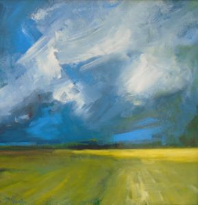 Blue Skies, Yellow Fields. SOLD