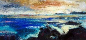 Light in the North. Mixed media on paper, 38 x 20 cm. SOLD