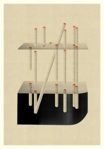 Abstract Composition M235. Digital artwork, 70 x 100 cm. Unique print