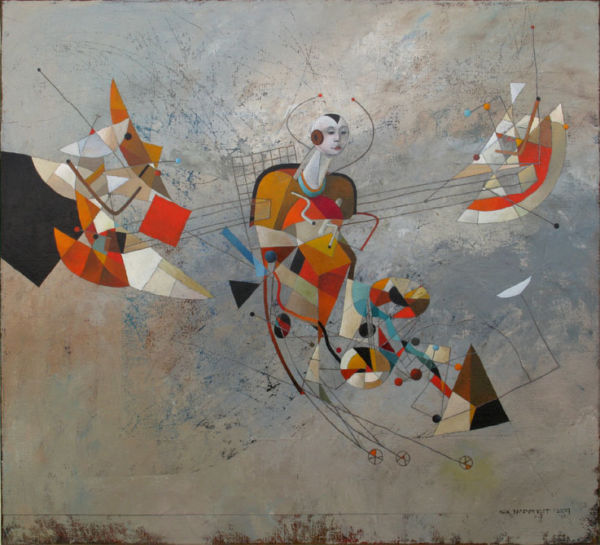Flight Attempt. Oil on canvas, 110 x 120 cm, 2009. SOLD