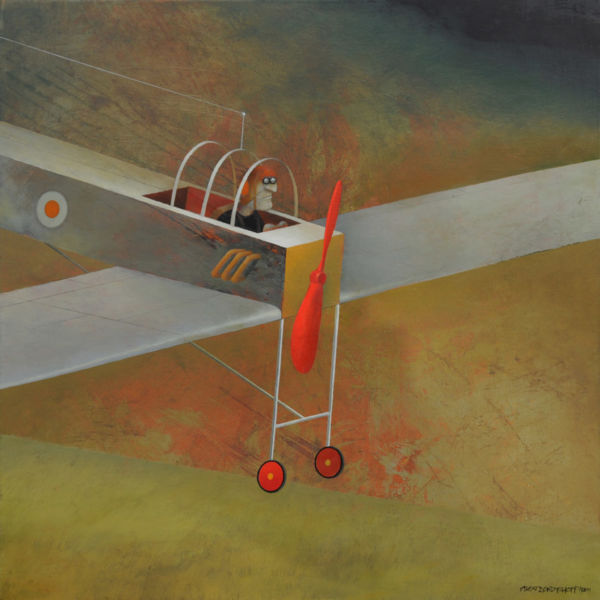Forced Landing. Oil on canvas, 85 x 85 cm, 2011. SOLD