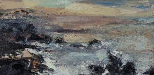 The Sea 3. Oil on canvas, 60 x 30cm. SOLD