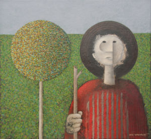 Gardener 2. Oil on canvas, 72 x 78 cm, 2012. SOLD