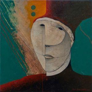 Renaissance Man. Oil on canvas, 46 x 46 cm. SOLD