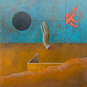 Choice Point. Oil on canvas, 85 x 85 cm, 2012. SOLD