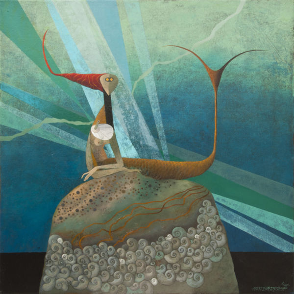 Mermaid. Oil on canvas, 85 x 85 cm, 2012. SOLD