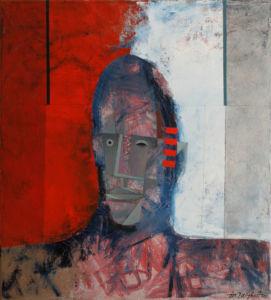 Purple Portrait. Oil on canvas, 60 x 55 cm. 2007. SOLD
