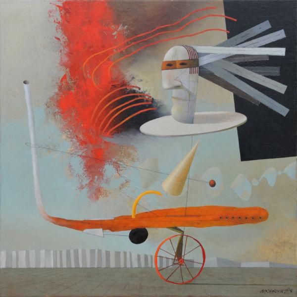 Secret Mission. Oil on canvas, 85 x 85 cm, 2011. SOLD