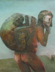 Burden. Oil on canvas, 92 x 72 cm. SOLD