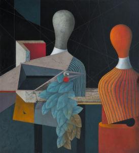 Acquaintance. Oil on canvas, 120 x 110 cm. 2014. SOLD