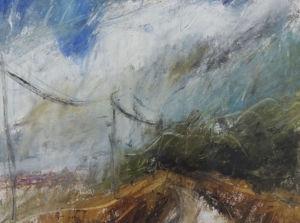 Landscape oil sketch No 34. 17 x 22 cm