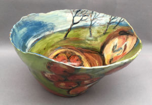Apple Orchard. Large bowl. SOLD
