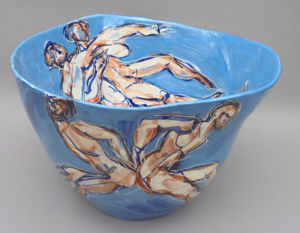 Blue Dancers. Large vessel. SOLD