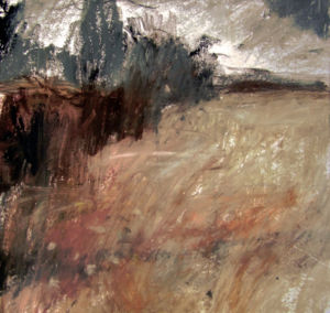 Landscape oil sketch No 7. 18 x 19 cm