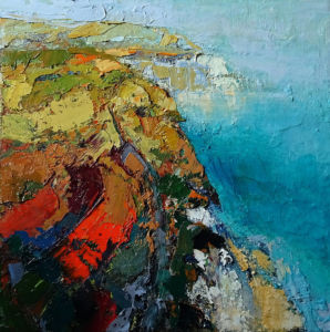Cliff Edge. Oil on canvas, 40 x 40 cm. SOLD