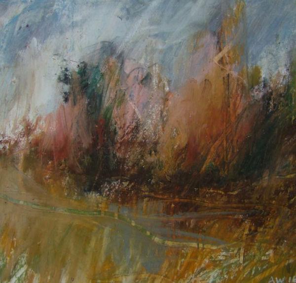 Landscape Oil Sketch No 22. 19 x 19 cm. SOLD