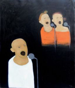 Backing Vocals. Oil on canvas, 50 x 60 cm. SOLD