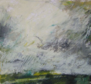 Landscape Oil Sketch No 6. 36 x 36 cm