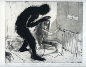 Bar Coded Woman. CG 26. Etching, aquatint, 38 x 42 cm