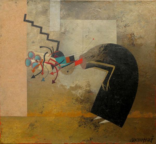 Beggar. Oil on canvas, 55 x 60 cm, 2009. SOLD