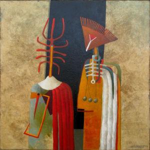 Ancestors 2. Oil on canvas, 85 x 85 cm. 2009. SOLD