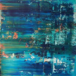 Lechuza Beach. Abstract No 2348. Acrylic on canvas, 70 x 70 x 4 cm. 2019