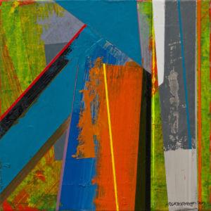 Terra XIII. Acrylic on canvas, 46 x 46 cm. SOLD