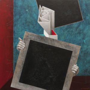 Black Square Presentation. Oil on canvas, 85 x 85 cm