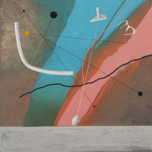 Celestial Dance. Oil on canvas, 85 x 85 cm