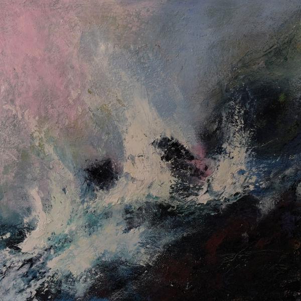 Crash. Oil on canvas, 60 x 60 cm. SOLD