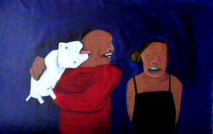 Family. Oil on canvas, 90 x 142 cm