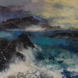 Far Point. Oil on canvas, 76 x 76 cm