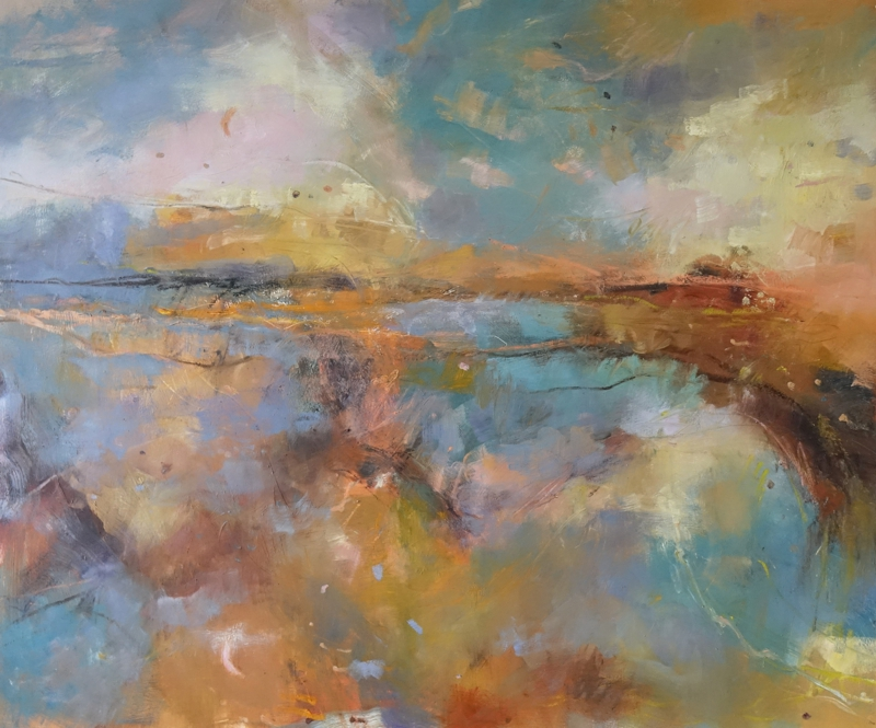 The Island and the Sea. Oil on linen, 100 x 76 cm