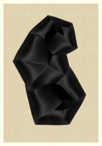 Abstract Composition M279. Digital artwork, 70 x 100 cm. Unique print