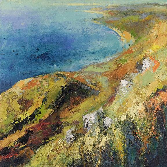Jurassic Coast 2. Oil on canvas, 90 x 90 cm. SOLD