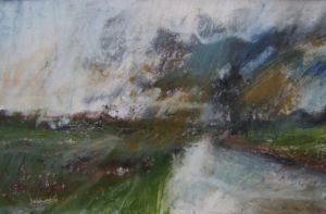 Landscape Oil Sketch No 43. 26 x 17 cm. SOLD