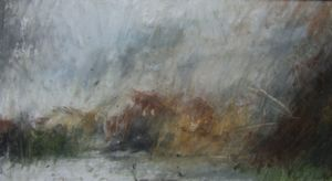 Landscape Oil Sketch No 53. 36 cm x 19 cm