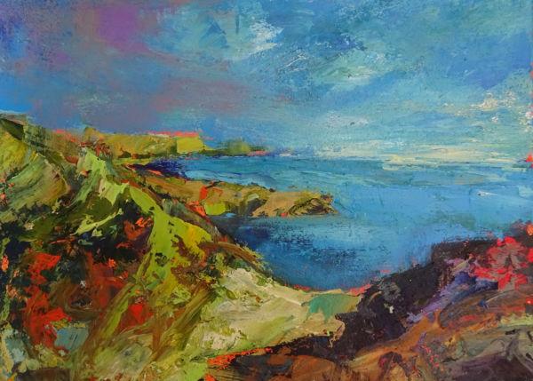 Lulworth Cove. Acrylic on paper, 33 x 45cm