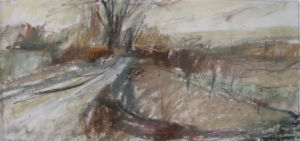 Landscape Oil Sketch No 10. 23.5 x 18 cm. SOLD
