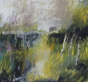 Landscape oil sketch No 91. SOLD
